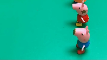 给佩奇一家发发泄球了,佩奇一家都很高兴,乔治不想要绿色的