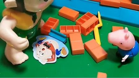 葫芦娃破坏了人家墙,还欺负了乔治,乔治就去告诉了爷爷