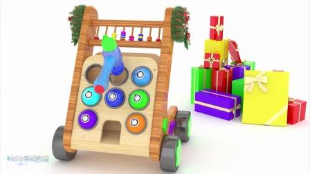 益智动画:小彩球里面装着各种玩具车辆