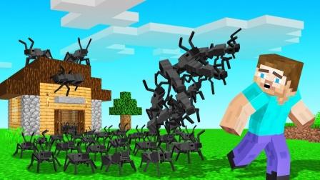 我的世界最实用的蚂蚁搬家模组,再大的东西都给你搬回家