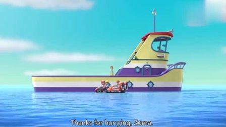 汪汪队:路马神勇水上救援,鲸鱼海豚齐捣乱,雅丽牙齿最终找到
