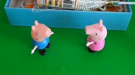 猪妈妈买了快递,乔治打不开盒子,佩奇能不能打开呢?