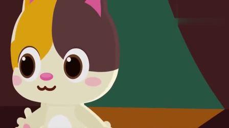 宝宝巴士:咪咪带乐乐在草丛里找到了一个小玩具