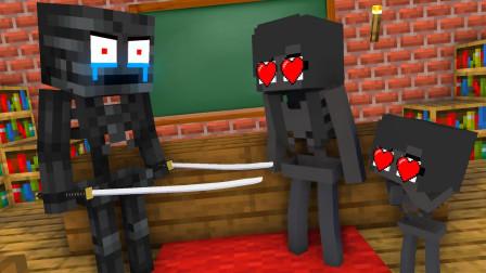 《我的世界怪物学院》搞笑动画:小迪老师的数学课,工具台创造课