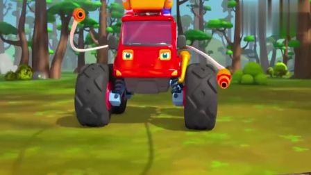 宝宝巴士:怪兽车救援队出动啦,快去森林灭火吧