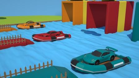 小汽车们坐着小船要去往哪里呢?