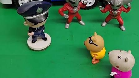 小马佩德罗发现有怪兽,跑来告诉警察叔叔,警察提前埋伏抓了怪兽