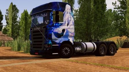 世界卡车模拟-斯堪尼亚 R620 6x2 ,运输石子(2)