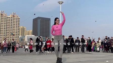 某公园一群人围观美女跳舞没想到男人也嘴碎