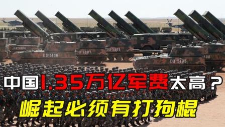 中国1.35万亿军费太高?崛起必须有打狗棍
