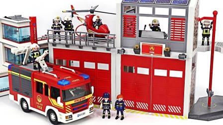 乐高玩具故事:超精彩!消防员如何对付野兽们的袭击?