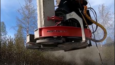 国外混凝土切桩机1天能切150根,这要抢多少农民工的饭碗?