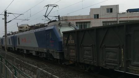 HXD21160西局安段货列会C5763广安南-成都东晚点6分通过超洋路13:16