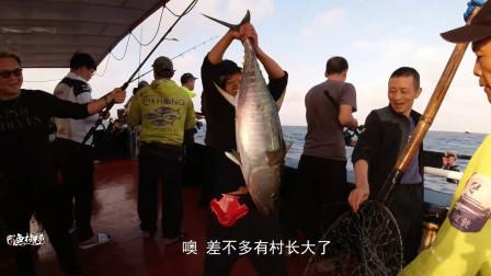 又到了钓金枪鱼季节,钓友疯狂拉鱼,鱼竿都断了2支
