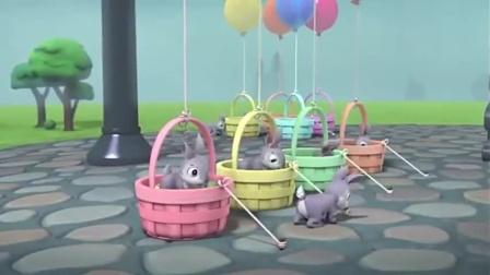 汪汪队:小兔子贪吃萝卜糖,爬进笼子不出来,独占一整篮