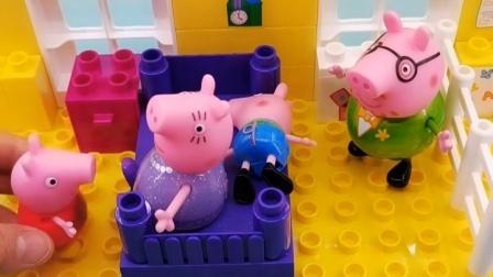现在都几点了,乔治还在睡觉,猪爸爸还是叫乔治起床吧