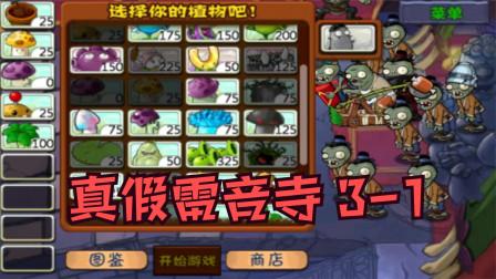 植物大战僵尸西游版:西游取经,真假雷音寺(3-1)