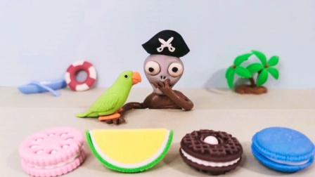 海盗僵尸海鲜吃够了,只想吃饼干,太有趣了!