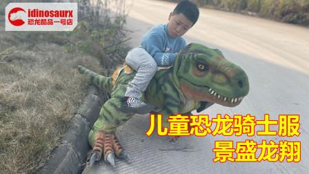 儿童恐龙骑士表演套装 - 孩童恐龙穿戴服