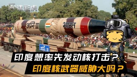 印度想率先发动核打击,摧毁邻国战争潜力?印度核武器威胁大吗?