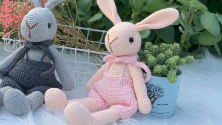 【菲儿妈手作 第151集】可爱兔子身体部分 毛线钩针编织可爱玩偶长耳兔子 零基础视频教程