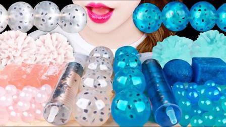 宝石质感的创意零食,晶莹剔透富有光泽,光是看着就是一种享受