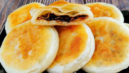 家常饼这样做才更香,一卷千层,简单无难度,不用喝汤也能吃2个