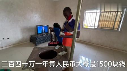 给非洲农村孩子搬家,今天装了中文台电视,让他更好的学好中文