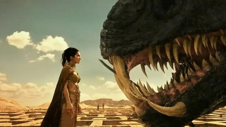 天神被巨蛇追杀,被美女看了一眼后,竟瞬间吐火烧了自己!