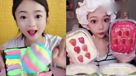 小可爱吃播:棒棒糖、草莓盒子蛋糕,有没有你们喜欢的味道