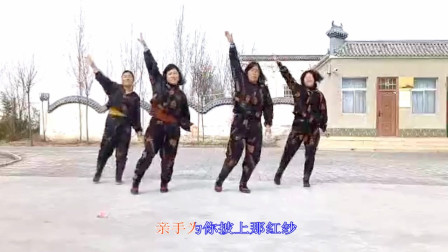 大荔凤玲广场舞《拉紧手跟我走》原创含教学
