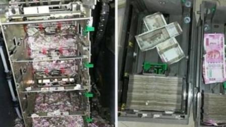 印度的取款机也能进老鼠,数百万纸币成渣渣,安全性有点低!
