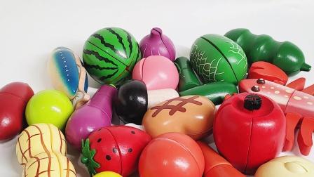蔬菜水果拼拼乐 儿童启蒙玩具 认识水果和蔬菜