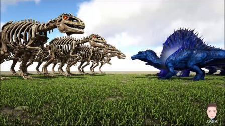 骷髅南方巨兽龙VS天神棘背龙,谁会赢
