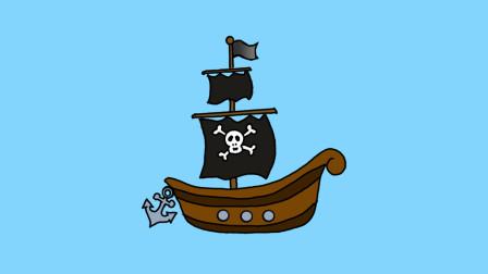 海盗船简笔画 - 一步一步教你画
