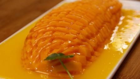 """不开火不用油,李姐教你""""橙汁木瓜""""做法,酸甜爽口,好吃有面子"""