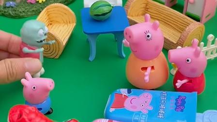 巨人僵尸有事出门,猪妈妈帮忙照顾小鬼,可乔治佩琪不喜欢小鬼