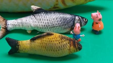 乔治看到一条大鱼,它跟妈妈说想吃,但猪妈妈说这是猪爸爸的