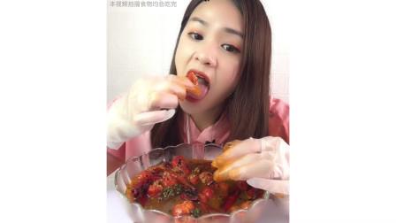 又鲜又嫩的麻辣小龙虾尾 又肥又香 一次吃过瘾 太好吃了!