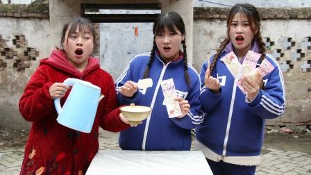 同学们想吃雪糕,如花老师怕她们吃坏肚子竟拿热水烫雪糕!真逗