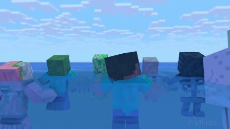 我的世界:同学们游了出来,终于得救了啊!