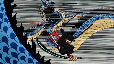 海贼王同人动画,超新星对战四皇凯多,索大帅气屠龙