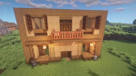 我的世界:制作超温馨的生存小屋,这才是萌新的生存小屋!