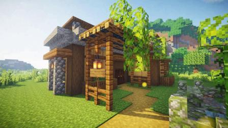 我的世界:制作超温馨的生存小屋,原来生存也可以这么美!