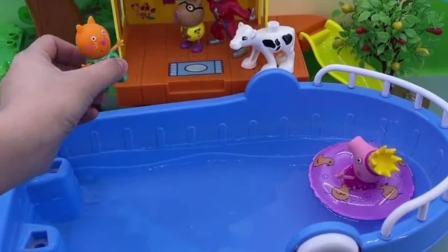 儿童玩具:猪爸爸肚子太大了