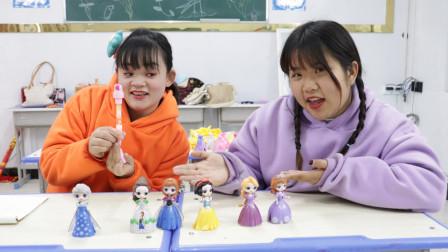 柚柚用一只特别的笔,套路同学全部芭比娃娃,太机智了