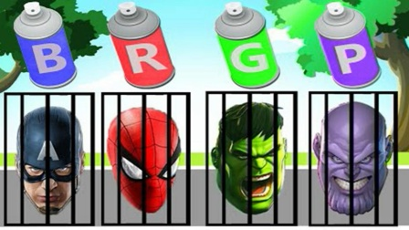 自制超级英雄:涂上喜欢的颜色