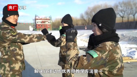 军媒播出武警新训干部骨干集训火热训练画面,武警女教官们集体出镜,苦练拳脚