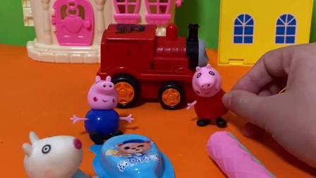趣味玩具:小羊苏西和佩奇玩捉迷藏,找到了就能吃零食!