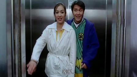 星爷这段电梯颜值堪比港姐选美,每一秒都是巅峰!